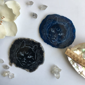 """Midnight Familiar "" Agate Slices"
