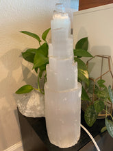 "Massive 15"" Selenite Tower Lamp"