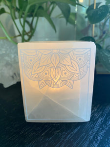 """Transcend Mandala"" Onyx Candle Holder"