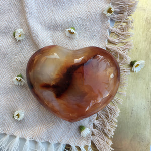 """Way of the Heart"" Large Carnelian Heart"
