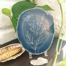 """Moon Blooms"" Agate Slice"