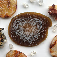 """Aries Renewal"" Agate Slices"