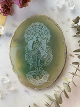 """Earth Goddess"" Virgo Zodiac Agate Slices - Oblong"