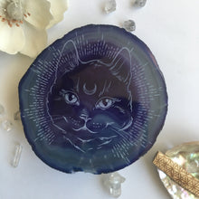 """Midnight Familiar "" Premium Extra Large and Gold/Silver Plated Agate Slices"