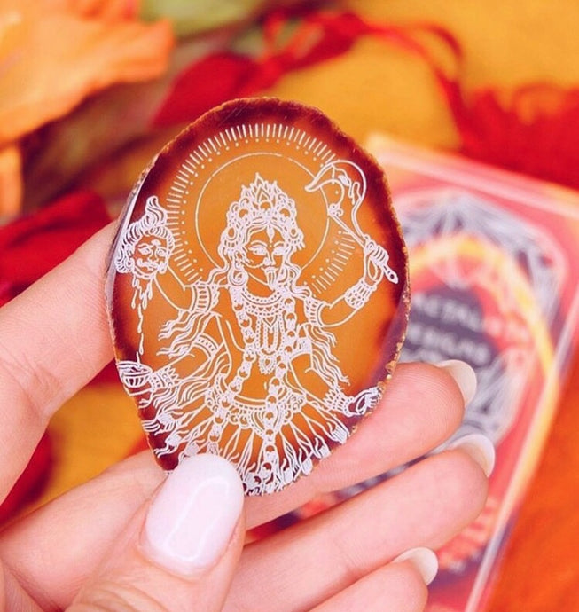 "Red Agate Slice ""Kali Ma"" Goddess Provisions July"
