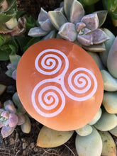 Peach Selenite Palmstone