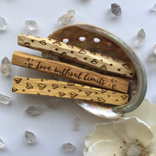 ❣️Limited Edition for Valentine's Day❣️ Love Affirmations and Hearts Etched Palo Santo