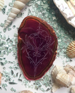 ✨♋️ OBLONG Cancer Season Agate Slice ♋️✨