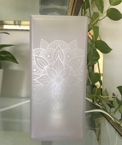 *Add-On Upgrade* 4-Side of Etching FROSTED GLASS Lamp