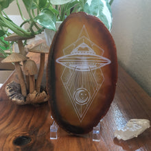 """Alien Abduction"" Premium Extra Large Agate Slices"