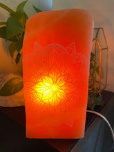 """Transcend Mandala"" Peach Selenite Lamp"
