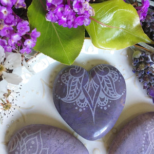 ✨RARE✨ Lavender Jade Hearts and Pocketstones