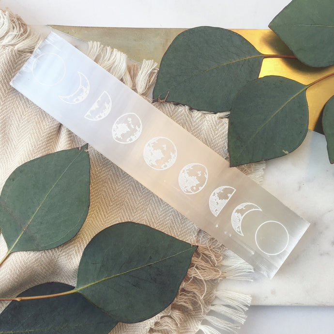 Selenite Crystal Charging and Cleansing Blade