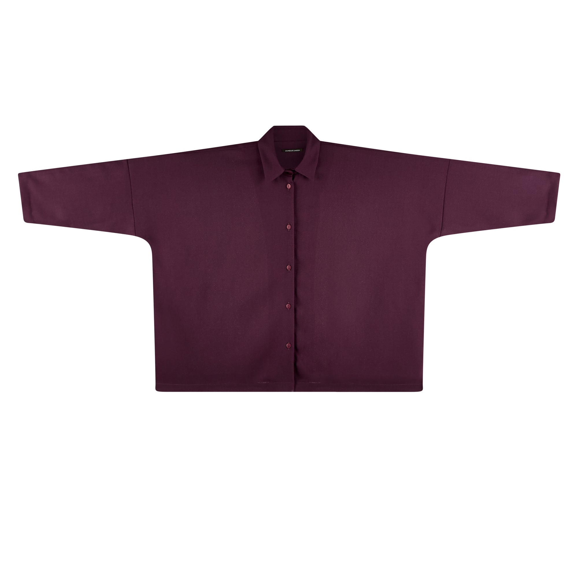 LIGHT WOOL CREPE OVERSIZED SHIRT | MULBERRY