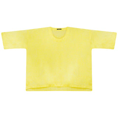 SOFT LINEN OVERSIZED TOP | LEMON