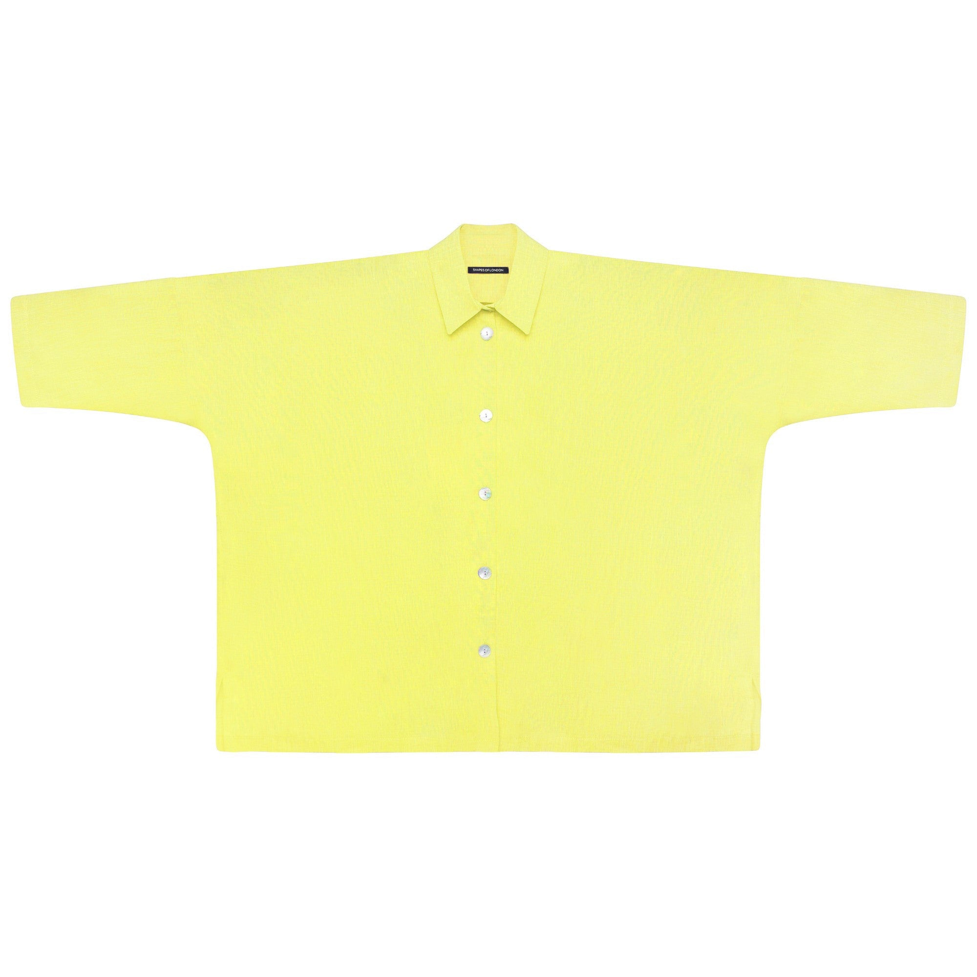 SOFT LINEN OVERSIZED SHIRT | LEMON