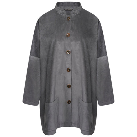 COTTON SMALL OVERSIZED SHIRT | MARBLE GREY