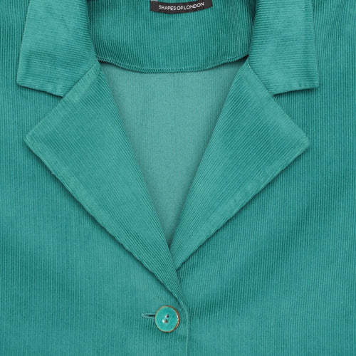 CORDUROY JACKET COLLAR OVERSIZED SHIRT-JACKET | EMERALD GREEN