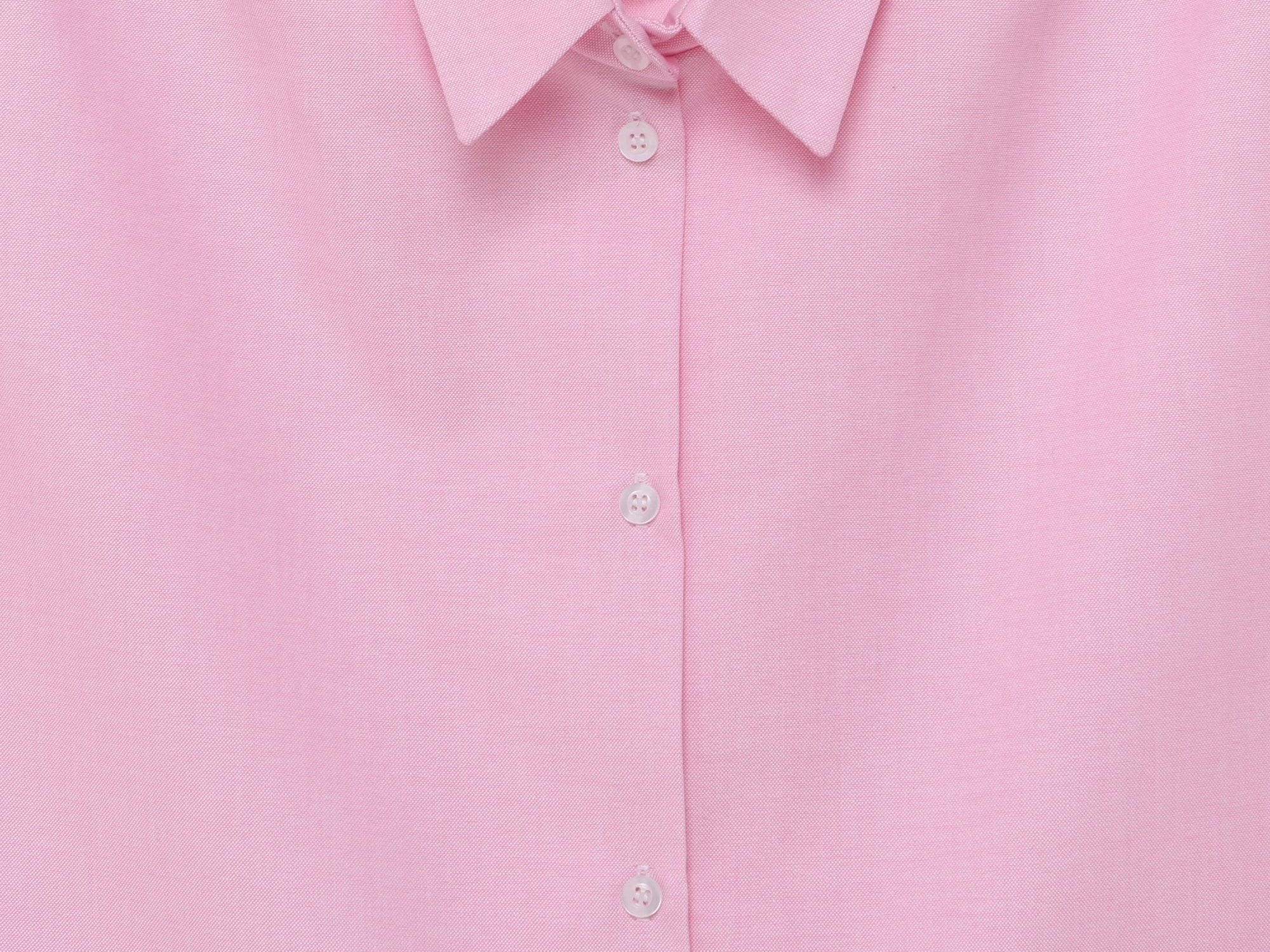 SOFT COTTON OVERSIZED SHIRT | SPRING PINK WITH PATCH POCKETS
