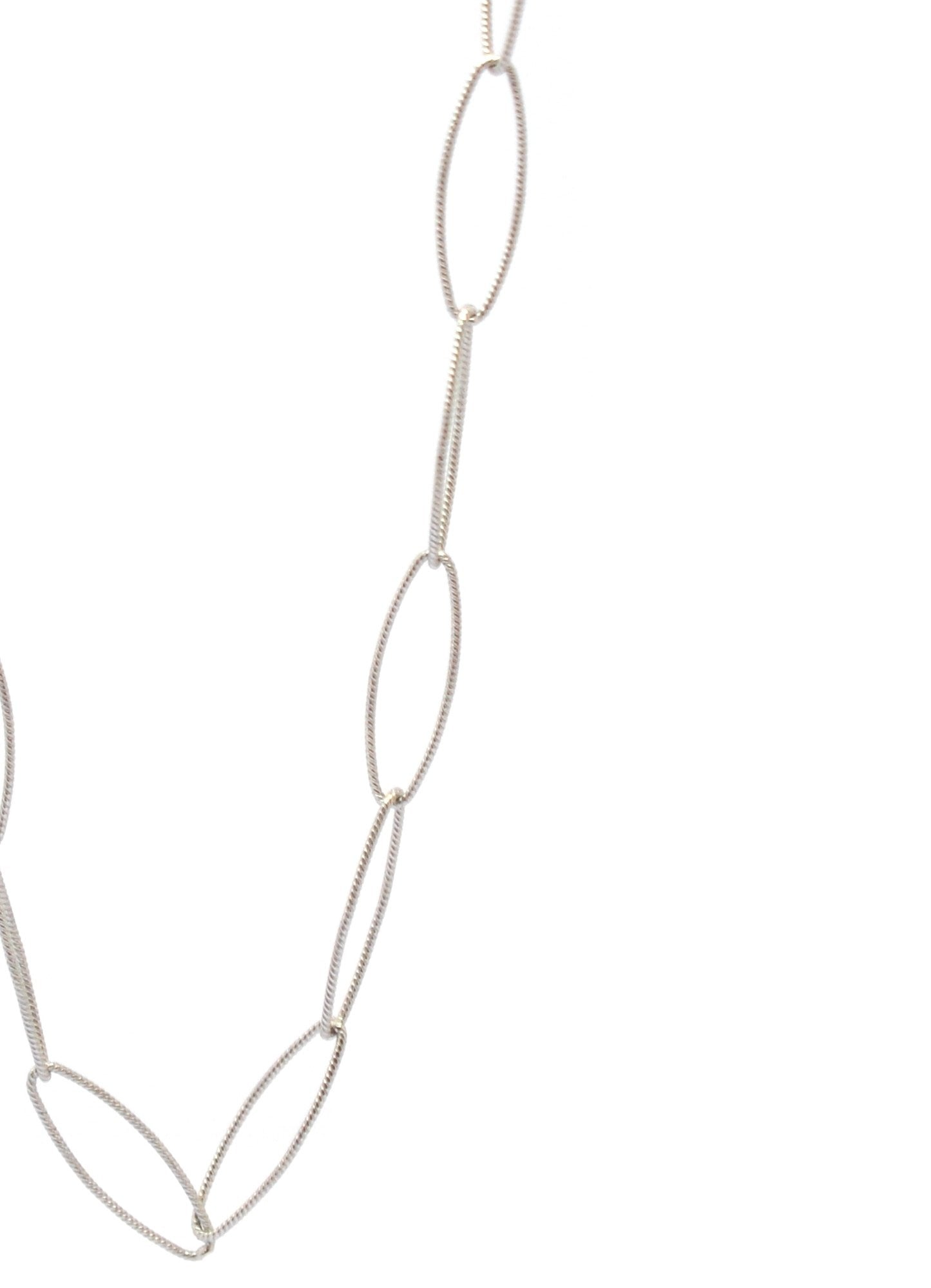 LARGE LINK CHAIN WITH JEWEL TABLET | SILVER