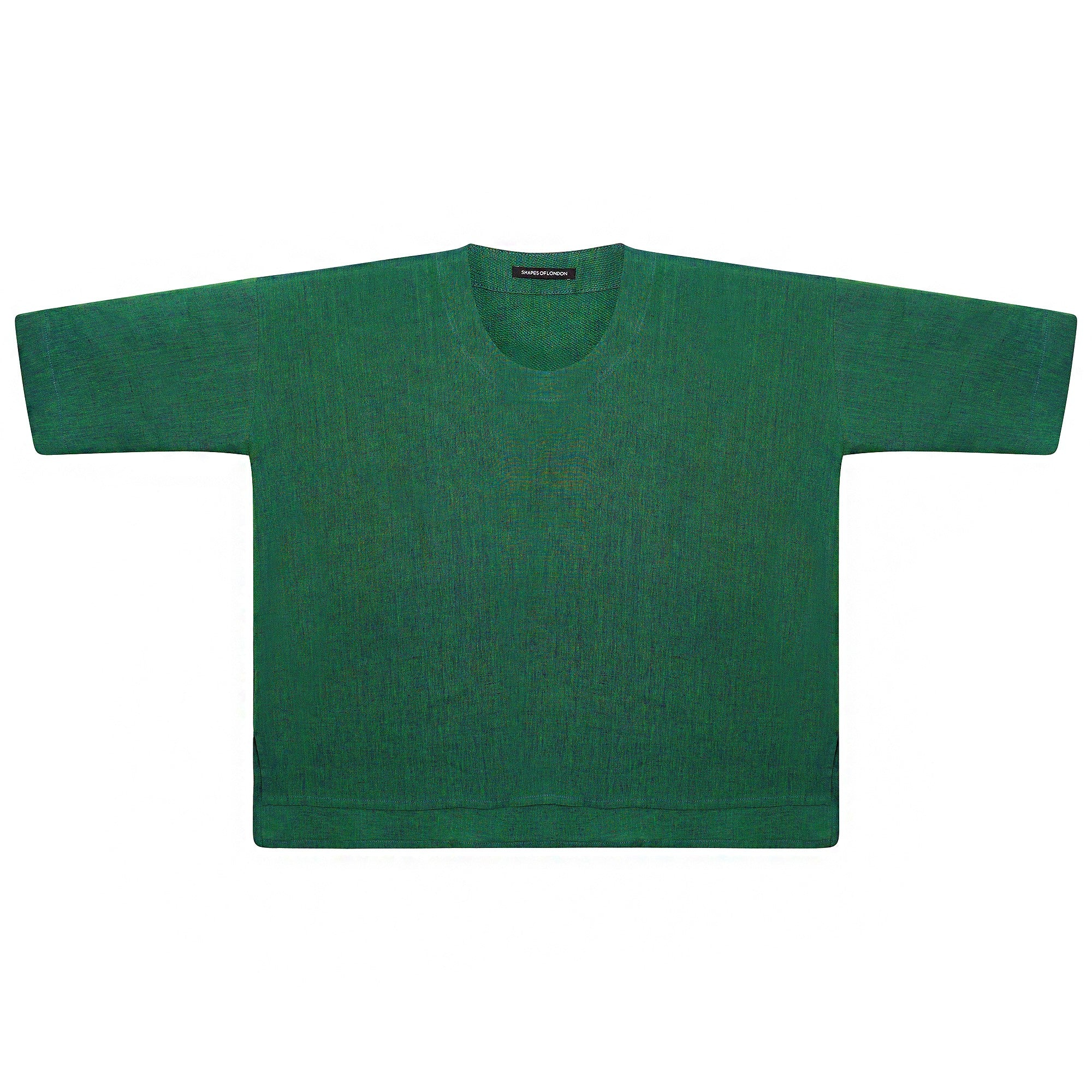 IRISH LINEN EMERALD GREEN BLOUSE