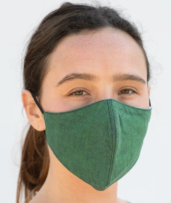 REUSABLE LINEN FACE MASK - LEMON