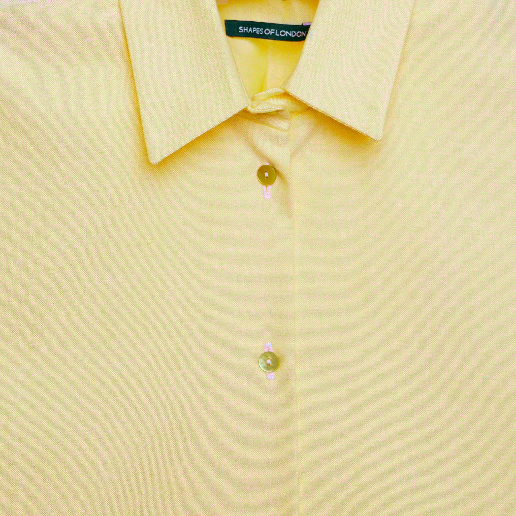 SOFT COTTON LONG SLEEVED SHIRT | LEMON WITH CITRUS BUTTONS