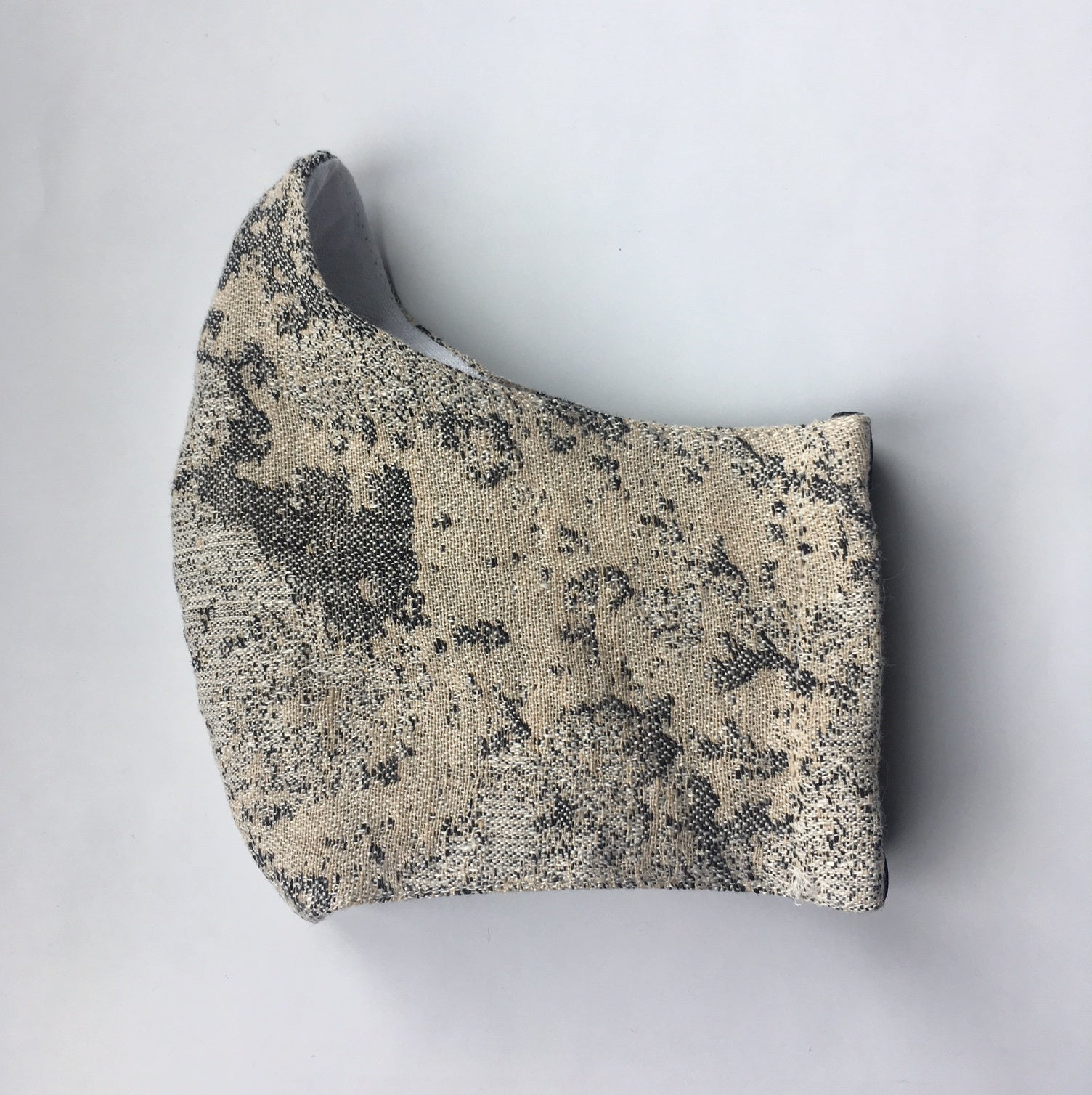 TEXTURED IRISH LINEN FASHION MASK -  LICHEN