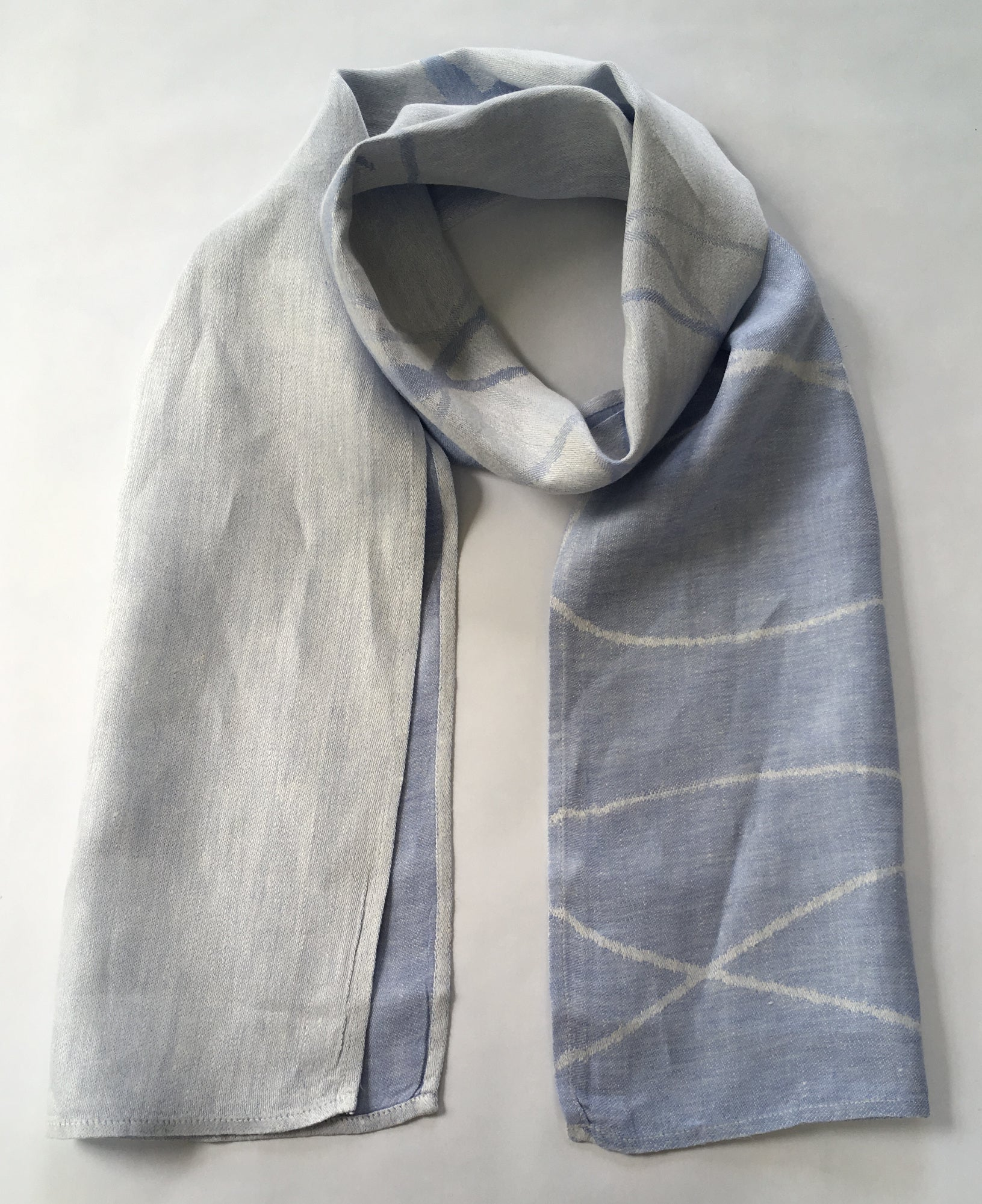 IRISH LINEN SUN SCARF | THISTLE BLUE