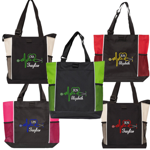 Personalized this Nurse Bag comes in different to choose from and personalized color for the Stethoscope