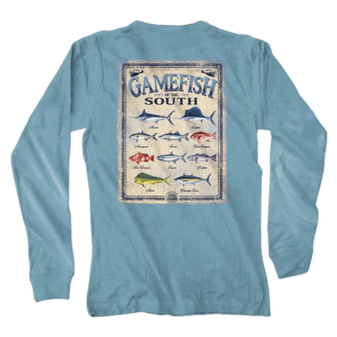 long sleeve tee, gamefish of the south