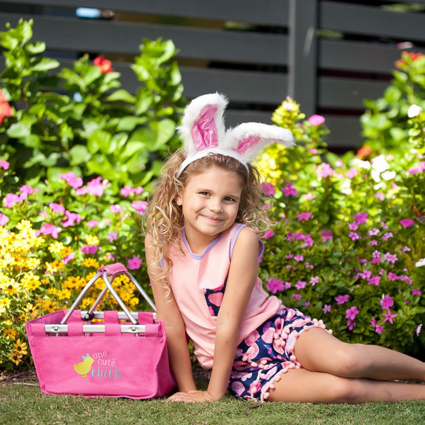 pink easter mini market tote