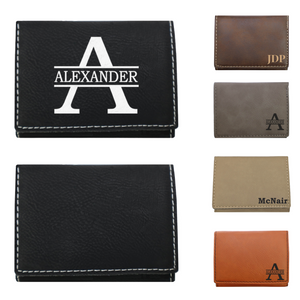 leatherette wallet, mens wallet