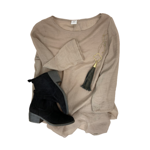 Soft Cotton Coffee Tunic