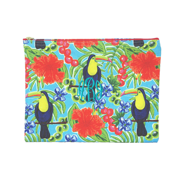 Summer Zippered Cosmetic Bag