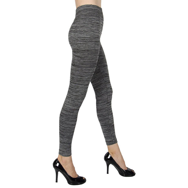 Space Dye Two Tone Leggings Plus Size