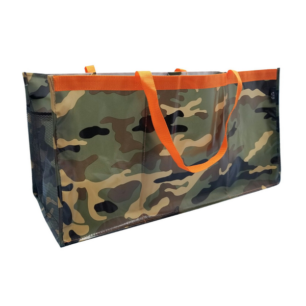 Camouflage Three Compartment Trunk Tote