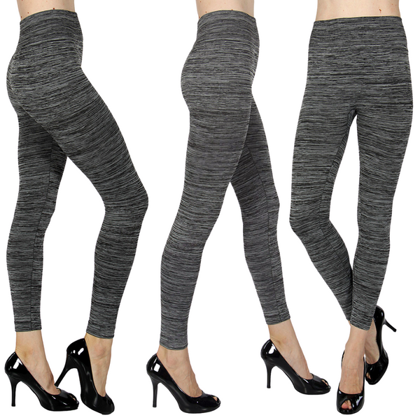 Heather Gray Two Tone Fleece Leggings