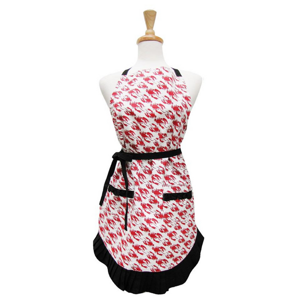 Los Lobsters Ruffle Apron