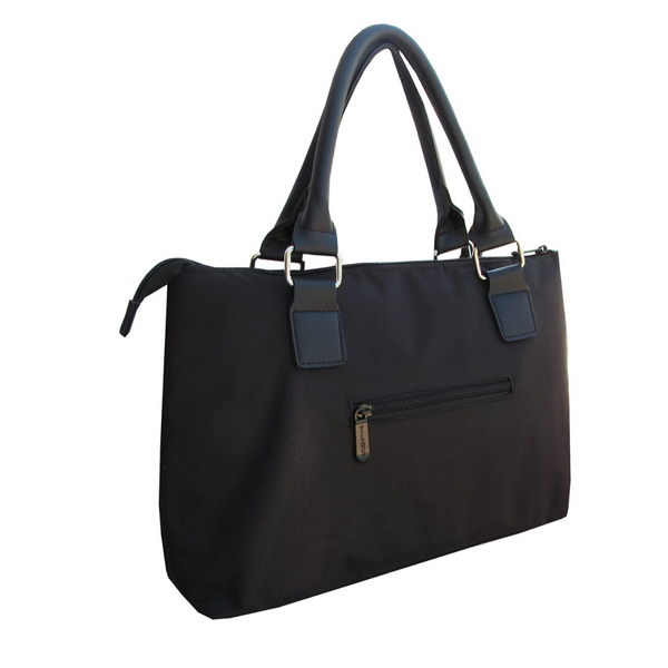 Solid Black Lunch Tote