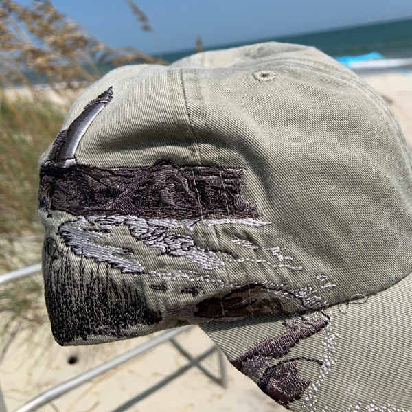 beach hat, north carolina light house