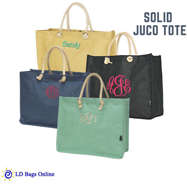 Get this Juco Tote Bag and personalize it, this is Eco friendly and can be used in all kinds of occasions.