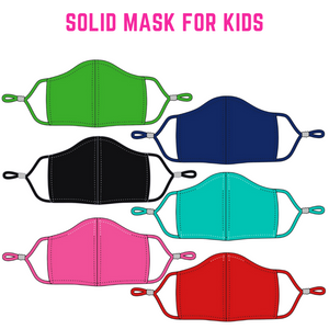 Adjustable Solid Mask for Kids