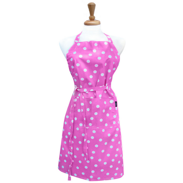 White Polka Dot Adult Apron