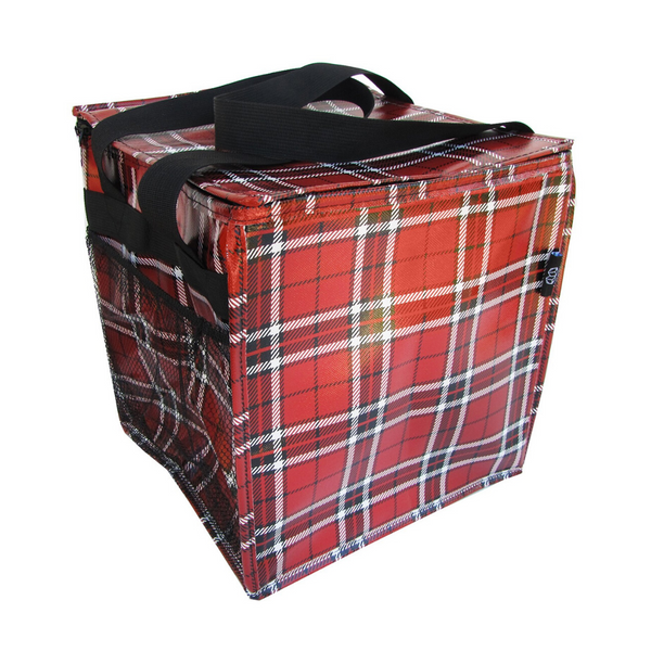 Red Plaid Trunkey Tote