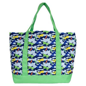 skateboard tote, green tote for kids