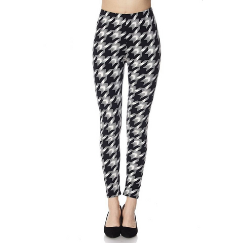 Personalized this Black Checked Leggings for Women