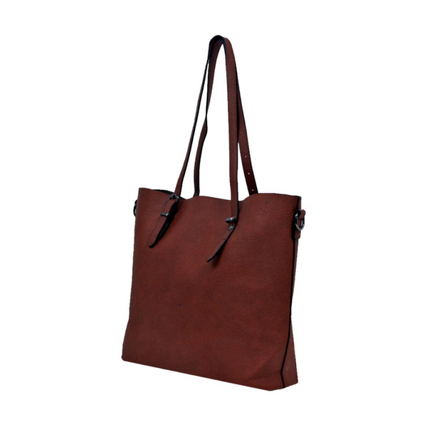 tote with buckle strap
