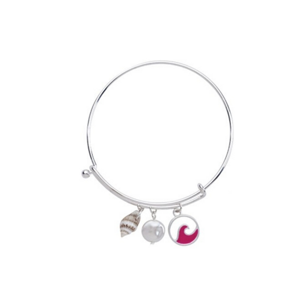 Enamel Circle Wave Slide Bracelet