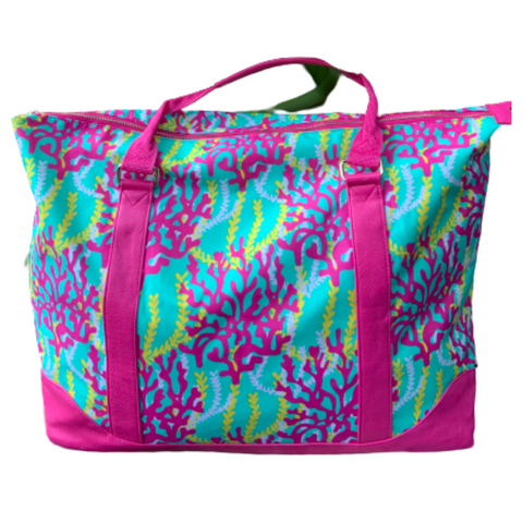 Hot Pink Coral Reef Tote Bag